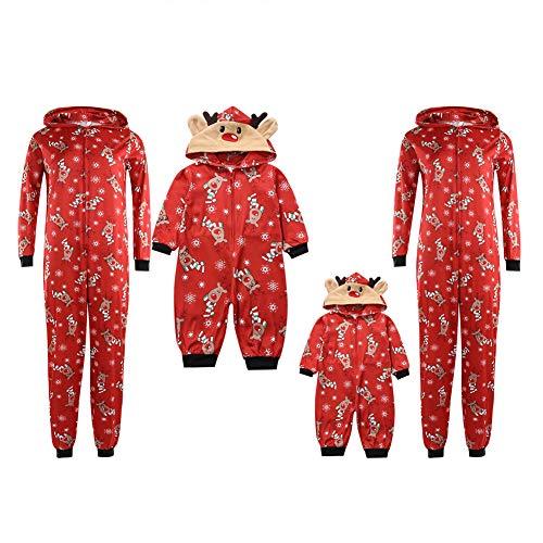 Family Matching Christmas Pajamas for Kids, Teens, and Adults,100% Soft Cotton Matching Pajamas (Christmas Pajamas, (Mom) Large)