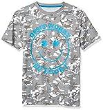 Lucky Brand Boys' Short Sleeve Camouflage Tee Shirt, Camo Steeple Gray, L