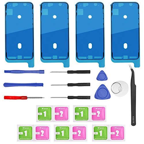 4 Pack Screen Adhesive Tape,DanziX Replacement Tape Compatible with iPhone X Waterproof Seal Repair Stickers with Repair Tools Kit and Cleaning Accessories