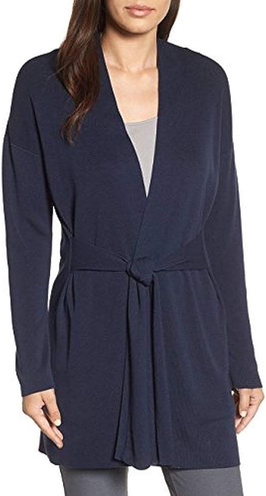 Eileen Fisher Midnight Sleek Tencel Long Cardigan Size PP MSRP $358