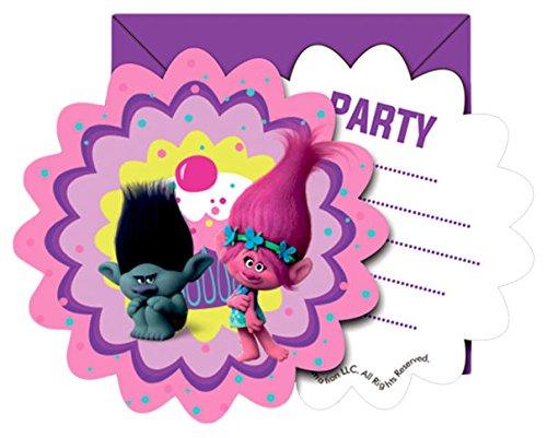 Trolls Einladungen - 6 Stück