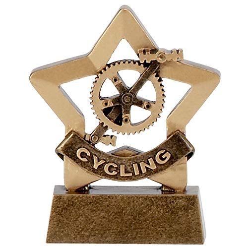 Womack Graphics A1108 - Mini trofeo da ciclismo, 8 cm, con incisione gratuita fino a 50 lettere