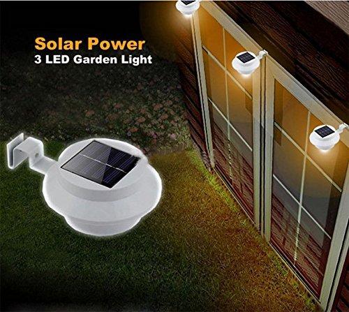 CucinaGood Solar Powered LED valla jardín luz aplique vestíbulo vía: Amazon.es: Hogar
