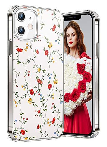kkkie Funda compatible con iPhone 12 Mini, carcasa de TPU de silicona, transparente, suave, transparente, flexible, antiarañazos, funda trasera para teléfono móvil (5)