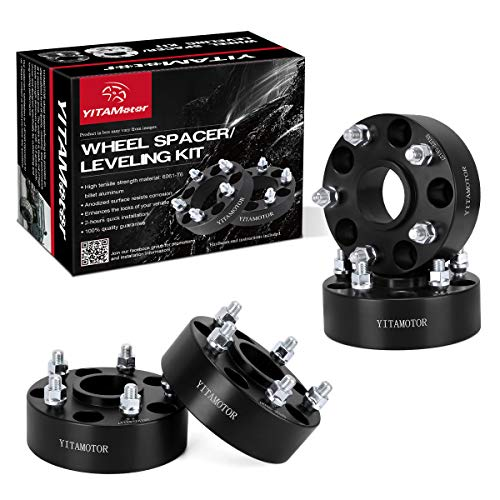 YITAMOTOR Wheel Spacers 5x5 Compatible for Jeep, Forged Hubcentric 2 inches Wheel Adapters, SGS Approved, for 2007-2017 Wrangler JK JKU, 1999-2010 Grand Cherokee WJ WK, 2005-2010 Commander XK