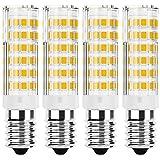 JPGhaha 4 Piezas Bombilla LED E14 6W Bajo Consumo de Energía Luz Blanco Frío Alto Brillo 6000K E14 Bombilla LED 76-SMD Bombilla de Ahorro de Energía AC220V