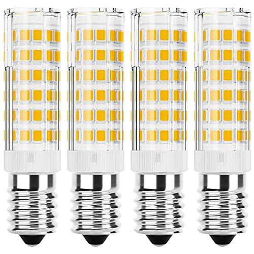 JPGhaha 4 Pcs E14 LED Bulb Cooker Hood 6W Cool White High Bright Daylight White 6000K E14 76SMD Light Bulb AC220V for Livingroom Bathroom