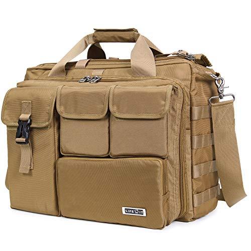 Lifewit Laptoptasche Herren 17 Zoll (bis 41,6cm lang Laptop) Taktische Umhängetasche Militärischer Schultertasche Wasserdicht aus Nylon (Khaki)