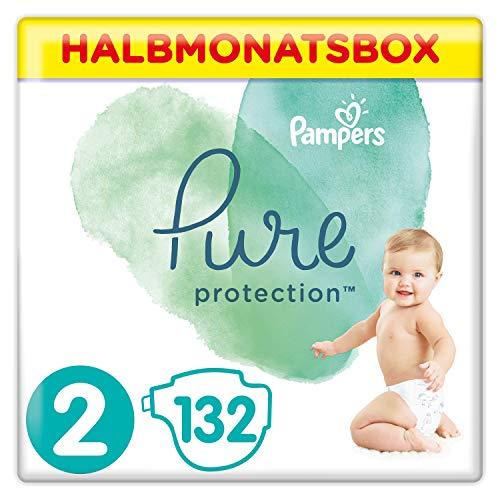 Bester der welt Pampers Pure Protection Windel, Gr.  2,4-8 kg Box, Halbmond (1 x 132 Windeln)