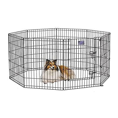 Midwest 552-30DR Exercise Pen, Black, 24X30 In, With Door from MidWest Homes For Pets