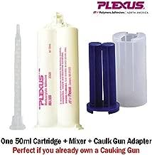 Plexus MA300 All Purpose High Strength 5-Minute MMA Adhesive (30500) 50ml/1.7oz Caulk Gun Adapter Kit