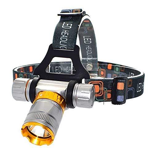 SRQOESFF Linterna Frontal 4000 lúmenes T6 LED de los Faros de Buceo Impermeable 5 Modos de inmersión del Faro Frontal Linterna de Caza submarina Cabezal de la antorcha de la lámpara iluminación