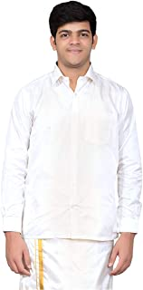 THANGAMAGAN Mens FULLHAND Shirt White Size 42