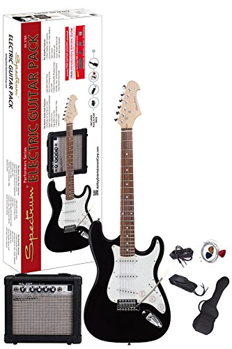 Spectrum AIL 278A Electric Guitar Pack, Black