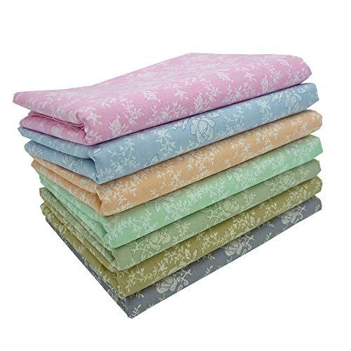 7 piezas 50cm * 50cm rosa tela de algodón estampado,telas para hacer patchwork, telas tilda, retales de telas, tela algodon por metros