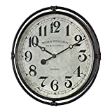 Uttermost Nakul 30' Round Rustic Industrial Wall Clock
