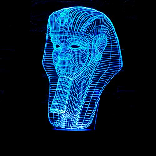 Creative Pharaoh 3D Lights Colorful Touch Led Visual Lights Pharaoh Avatar 3D Stereoscopic Night Light