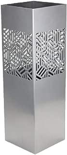 Blanco Parag/üero Cuadrado de Metal DRW 15.5x15.5x49 cm