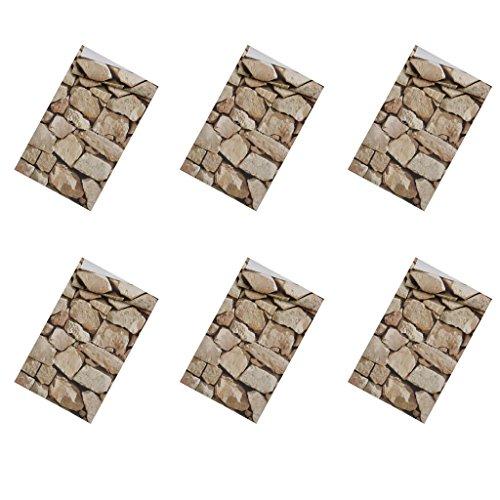 Steintapete 3D Vliestapete Steinoptik Mauerstein Stein Tapete Wanddeko 0,53 × 10m - 6er Set