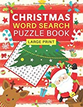 Large Print Christmas Word Search Puzzle Book: 80 Fun Holiday Word Search Puzzles for Adults