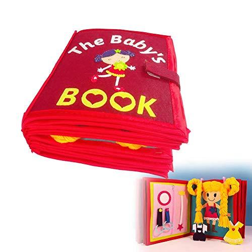 Stoffbuch, Fühlbuch, Babybuch Stoffbuch Entdeckungsbuch Baby Spielzeug Früh Lernen Lernspielzeug Quiet Book Kinderbild-Handbuch Buch für die frühe kognitive Entwicklung Kinder Spielzeugtuch Bücher