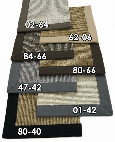 Astra Sisal Teppich Bordürenteppich Salvador Premium Natur Faser mit 5cm Bordüre