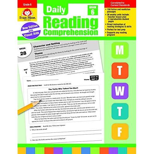 Reading Comprehension Workbooks Grade 6: Amazon com