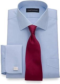 Men's Slim Fit Non-Iron Cotton Spread Collar French Cuff