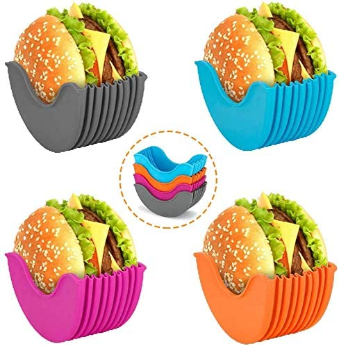 4-Pack New product! New type Adjustable Hamburger Holders Fixed New products world's highest quality popular Sili Boxes
