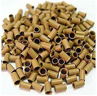500 PCS 3.5 mm Light Brown Color Copper Tubes Beads Locks Micro Rings for I Tipped Human Hair Extensions