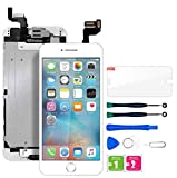 for iPhone 6s Plus Screen Replacement, LCD Display & Touch Screen Digitizer Replacement Full Assembly with Home Botton, Front Camera, Earpiece, Protector and Repair Tools (iPhone 6s Plus, White)
