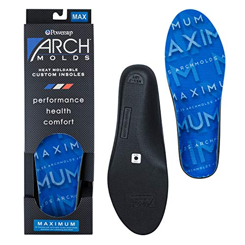 Powerstep womens Archmolds Orthotic Insoles Heat Moldable Shoe Inserts for Maximum Cushioning and Full Support Physical Therapy Equipment At, Blue, Women s 6.5-7 US