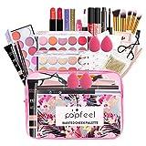 Kit de Maquillaje Todo en uno, Kit básico Esencial de Maquillaje Completo de 27 Piezas, Set de Regalo de Maquillaje Multiusos para niñas Adolescentes, Principiantes y Profesionales