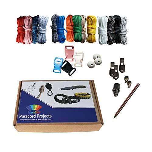 RainbowStone Paracord Armband DIY Projekt Kit - 24-TLG. Set B