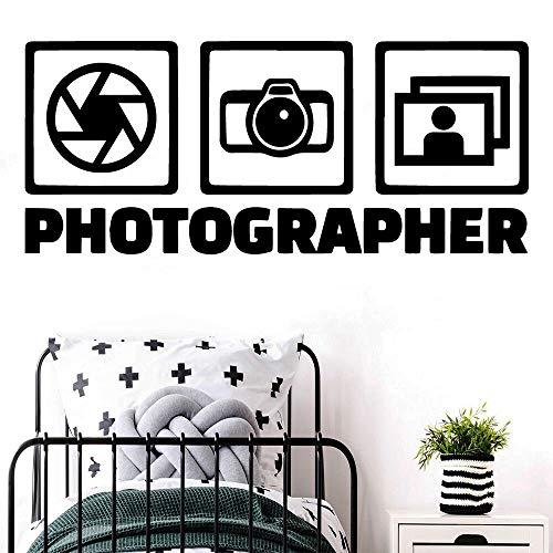 JXMN Fotógrafo de Arte Etiqueta de la Pared Arte extraíble Vinilo Etiqueta de la Pared Habitación Decoración del hogar 60x140cm
