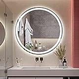 Runder Wandspiegel Badezimmerspiegel LED,dimmbarer Kosmetikspiegel,festverdrahteter beleuchteter...