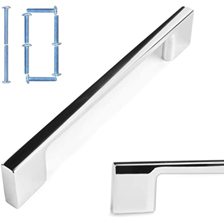 10 X Chrome D Handle Kitchen Cabinet Cupboard Drawer Pull 128mm