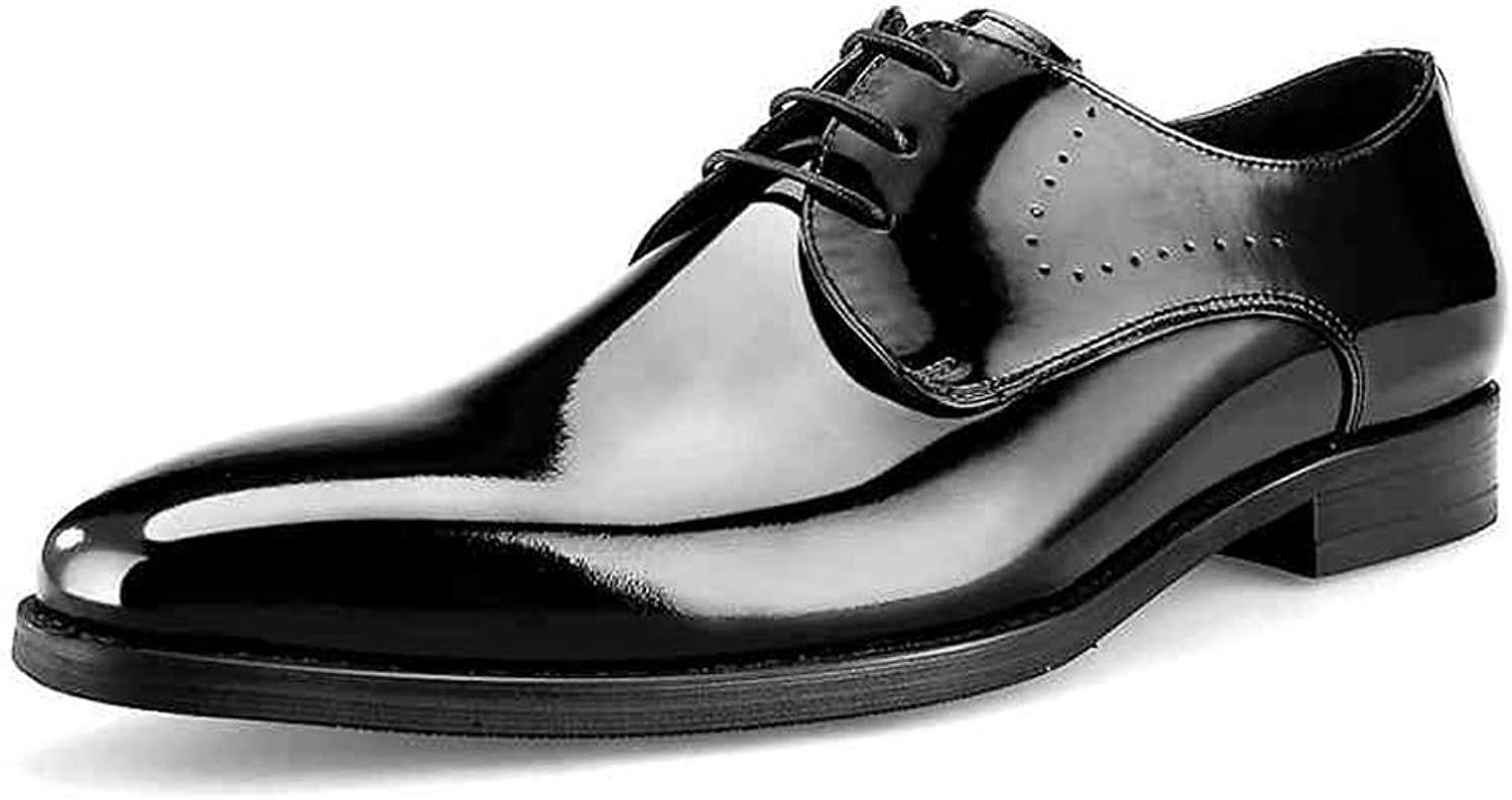 StickSeek Patent Leather Men's Formal Dress Office Oxfords Classic Man Derby Wedding Party shoes