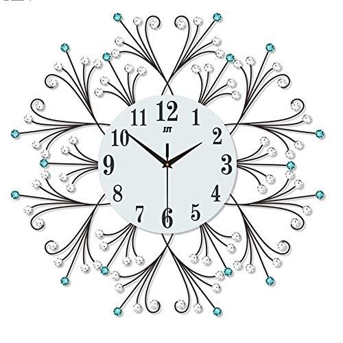 CMOIR Reloj de Pared para Sala de Estar y Dormitorio Viviendo la Pared del Estilo de la habitación Pequeñas Reloj Europeo Dormitorio Simple Hierro Reloj de Pared Decoración Reloj de Pared Decorativo