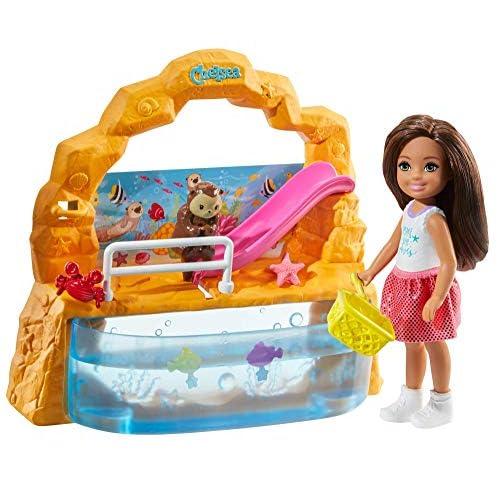 Barbie Chelsea Playset Bambola con Acquario, Giocattolo per Bambini 3+ Anni, GHV75