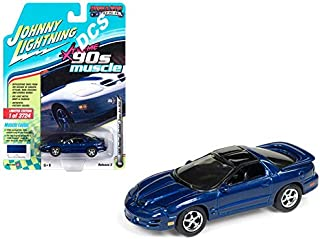 Johnny Lightning 1: 64 Muscle Cars U.S.A. Release 3 Version A Xtreme '90S Muscle 1999 Pontiac Firebird Trans Am WS6 Toy, Blue