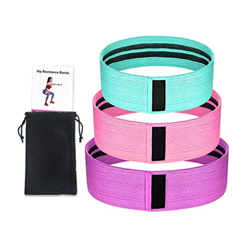 IFOUDNYOU Widerstandsbänder Set Bein Butt Exercise Trainingsbands Indoor und Outdoor Kniebeuge Yoga 3PC Fitnessbänder Aleitung Bänder Sport