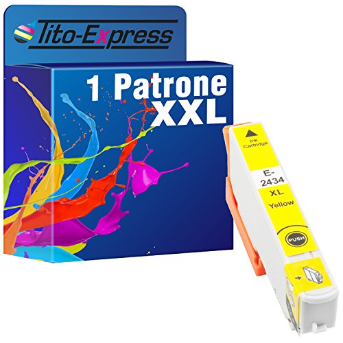 Tito-Express PlatinumSerie 1x Druckerpatrone XXL TE2434 Yellow kompatibel mit Epson Expression Photo XP-55 XP-750 XP-760 XP-850 XP-860 XP-950 XP-960