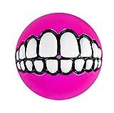 Rogz Grinz Dog Treat Ball, Medium 2.5', Colors Vary