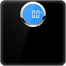 NYDZDM Body Weight Scale, High Precision Digital Bathroom Scale, Electronic Scale with Step-on Technology, Backlit LCD Display (Color : Black)