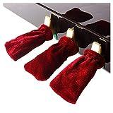 YWAWJ Un Conjunto de Tres Pedales del Piano Cobertura Universal Piano eléctrico Cubierta del Pedal Cubierta Protectora de Terciopelo del Oro