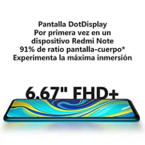 "Xiaomi Redmi Note 9S - Smartphone de 6.67"" FHD+ (DotDisplay, Snapdragon 720G, 6 GB RAM, 128 GB ROM, cámara cuádruple de 48 MP, batería de 5020 mAh) Aurora Blue [International Versional]"