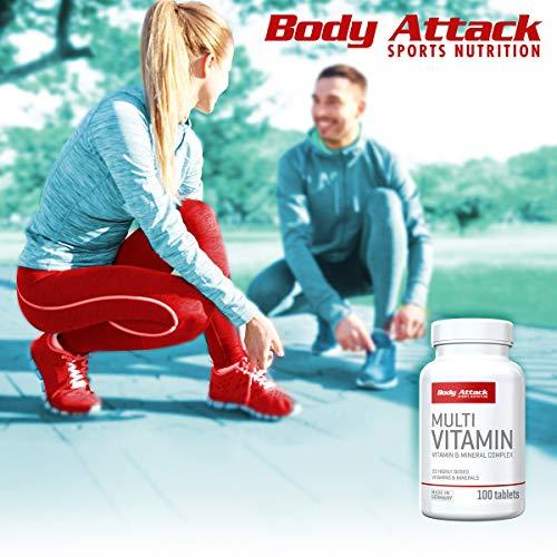 Body Attack Multi Vitamin, 100 Tabletten - 6