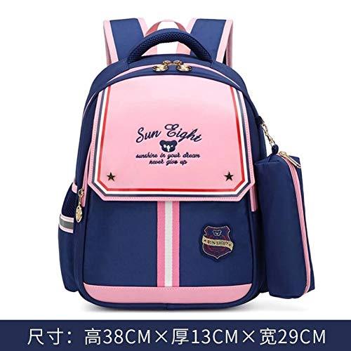 ZHIHUI Schultasche Orthopädische Rückseitige 15Inch Kindergarten-Rucksack-Grad 1-2 Schultaschen Für Kinderlicht-Buch-Tasche,Pink