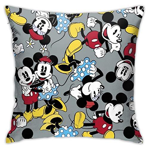 GmCslve - Federa quadrata per cuscino, motivo: Topolino Minnie, 40 x 40 cm, decorazione per la casa per auto, divano letto, divano